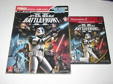 Star Wars: Battlefront II (Sony PlayStation 2, 2005) w/ Official Guide