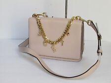 NEW Michael Kors Mott Soft Pink Leather Large Charm Swag Shoulder Bag Purse