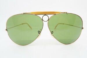 Vintage gold filled B&L Ray Ban Shooter sunglasses USA 1/30 10K GO 62mm KILLER