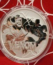 2020 Tuvalu Venom 1 oz .9999 Silver Key Coin Marvel Series In Plastic Capsule BU