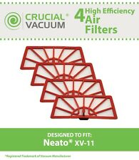 4 Replacements Neato XV-11 Air Vacuum Filters Part # 945-0004 & 945-0023