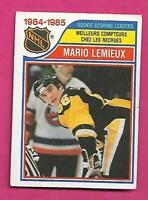 1985-86 OPC # 262 PENGUINS MARIO LEMIEUX LEADERS ROOKIE VG+ CARD (INV# D0823)