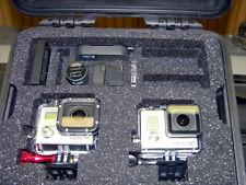 Black Pelican ™ 1300 Case fits  2 GoPro Hero 7 6 5 4 3+ 3  Black
