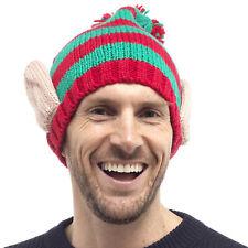 0ab4e3290ae Mens Womens Unisex Xmas Elf Novelty Knitted Winter Beanie Hat