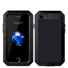 iPhone X 7 8 Plus Waterproof Shockproof Metal Rubber Hard Heavy Duty Case Cover for iPhone 7 Black