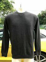 NWT ZARA MAN Grey lightweight sweatshirt sweater long sleeve PIQUE size L