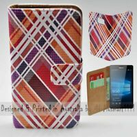 For Nokia Series - Tartan Texture Theme Print Wallet Mobile Phone Case Cover