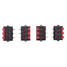 4pcs Audio Speaker Terminals Test Spring Clip Terminals 6 Way 2 Row