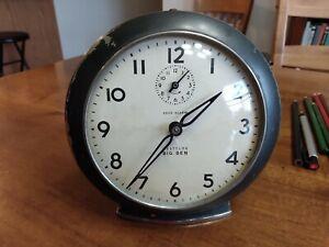 Westclox Big Ben Style 6 Loud Alarm Gun Metal 1950's Vintage Alarm Clock, Works