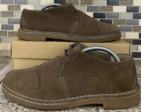 Clarks #62205 Oxford Mens Brown Suede Size 8.5 M Split Toe Lace Up Casual Shoes