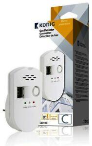 Steckdosen-Gasmelder Gasalarm GD100 für Erdgas Stadtgas Butan Flüssiggas