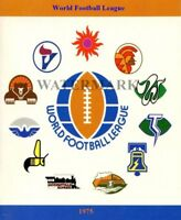 1975 WFL World Football League Team Logo's Color 8 X 10 Photo Picture