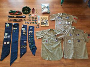 Bulk Job Lot, Girl Guides & Boy Scouts Memorabilia, Vintage and Modern, Patches