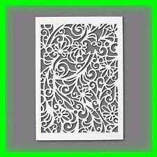 Stencil / Flex- Schablone - Blüten - DIN A4 / 1 teilig - Scrapbooking