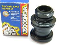 "Vintage Mongoose 1"" threaded BMX Headset Black NOS (959)"