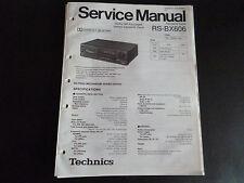Original Service Manual Technics Cassetten Deck RS-BX 606