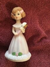 Enesco Growing Up Birthday Girl Figurine Age 5 - Brunette New In Original Box