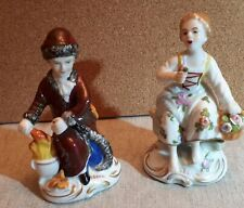 A Pair Of Sitzendorf Porcelain Figures.