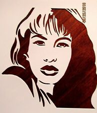 Selena Quintanilla Stencil/Template Reusable 10 mil Mylar