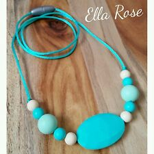 Silicone Necklace Fashion Jewellery 9mm, 15mm Beads Breakaway Clasp Non-toxic