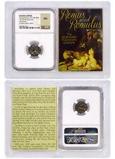 Roman Romulus & Remus Bronze Nummus Constantine I (AD 330-340) NGC MS SKU40254