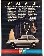 Original 1984 Dodge COLT Car Advertisement ~ Full Color Vintage Print Ad