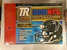 2001 Topps Reserve Football Hobby Box Drew Brees Autographed Mini Helmet