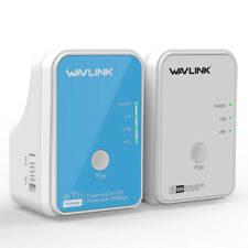 Wavlink 1Pair AV500 Powerline Ethernet Adapter Network Wireless-N Wifi Extender