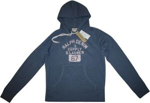 Ralph Lauren Hoodie Gr.L jeansblau Logo Kapuzensweatshirt Denim & Supply