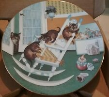 "Country kittens ""rock and rollers"" collector plate mint 1060c 0048"