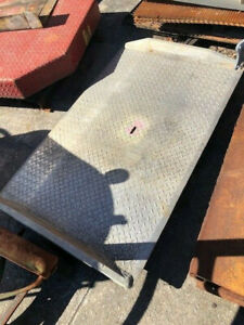 Dock to Rail Car Dock Board All Aluminum In Very Good Condition Used