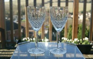 """2 Waterford Crystal Castlemaine Gold Water / Wine Goblets 7 7/8"""" selling 3 sets"""