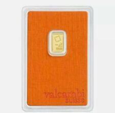 More details for numbered one gram gold bar - 1 gram 999 valcambi suisse bullion bar reserve off!
