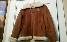 Baby Phat Genuine Leather Suede Jacket L zip With Adjustable Belt Straps