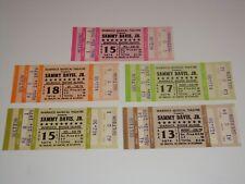 Sammy Davis Jr. 5 Unused 1979 Concert Tickets Warwick Musical Theater August Usa