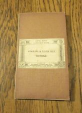 1914 MAP DORKING AND LEITH HILL DISTRICT EDWARD STANFORD CLOTH BACKED