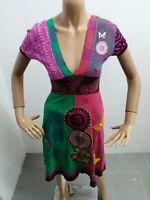 Vestitino DESIGUAL Donna taglia size XS dress woman maglia lunga cotone p5639