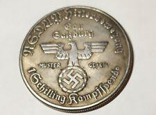 Piece Hitler 1938 5RM Reichsmark Coin Hitlerbemegung Galburg ww2 German