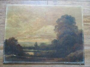 Original signed a (Augustus) Spencer Oil Painting (1860-1924) A QUIET POND