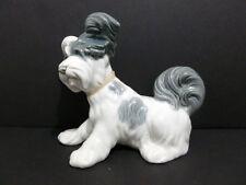 "LLADRO SKYE TERRIER ( WHITE/ GRAY/ 6"" TALL) DOG #4643 HQ RARE ITEM SPAIN 6367"
