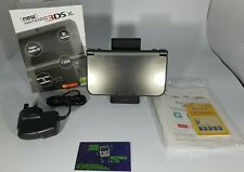 Boxed New Nintendo 3DS XL Metallic Black Handheld System Console & Micro SD Card