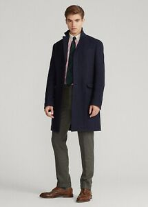 Ralph Lauren Men's Car Coat  Black Wool Blend Size  46  Reg RRP $350 New