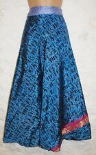 New Sari Wrap Skirt 14 16 18 20 Hippy Indian Silk Polysilk Mix Hippie Boho