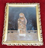 VIERGE MARIE AVEC JESUS. SCULPTURE SUR BOIS. STYLE COLONIAL. SIÈCLE XVIII-XIX.