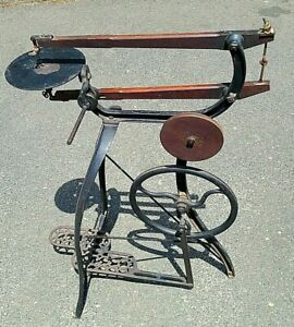 Antique New Rogers~Wood Cast Iron Treadle Lathe/Saw~ Circa 1890~1900's~We Ship!