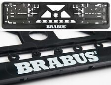 BRABUS Mercedes Benz License plate frames BIG LOGO MB E C B A S CL R GL G ML