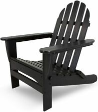 Black Adirondack Chair Classic Folding POLYWOOD AD5030BL