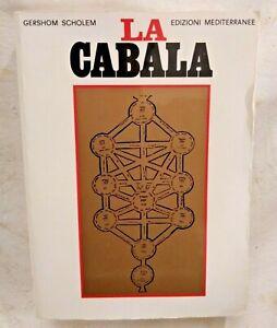 LA CABALA di Gershom Scholem 1988 Edizioni Mediterranee libro esoterismo magia