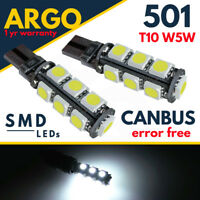 501 Sidelight Led T10 Car White Side Light Bulbs Free Canbus 13 Smd Xenon Hid