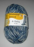 100 gram ball of REGIA 4 PLY METROPOLE COLOR sock knitting yarn color #04495